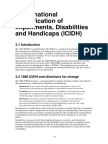 International Classification of Impairments, Disabilities and Handicaps