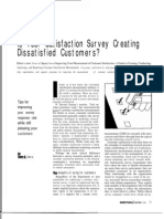 Is Your Satisfaction Survey Creating Dissatisfied Customers?