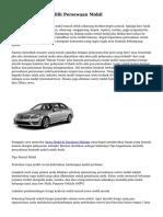 Bisnis & Trik Memilih Persewaan Mobil