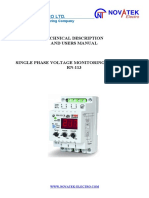 Single Phase Voltage Monitor RN-113 (Novatec)