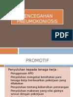 Pencegahan pneumokoniosis