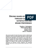 Driving Share-of-wallet Through Customer Satisfaction and Brand Preference