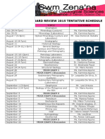 Review schedule