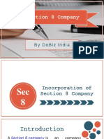 Section 8 Company Registration in India