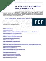 Contextual Teaching and Learning Elaine b Johnson