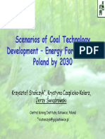 Scenarios of Coal Technology Development –Energy Foresight for Poland by 2030