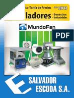 Catalogo Tarifa Ventiladores Mundofan