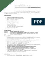 SAP FI ConsultantRESUME