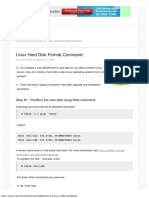 Linux Hard Disk Format Command