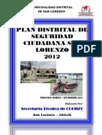 Plan Distrital de Seguridad Ciudadana - San Lorenzo 2012