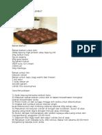 Resepi Bun Coklat Lembut