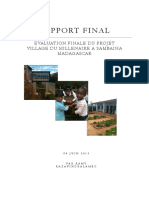 Rapport d'évaluation finale du projet Village du Millénaire à Sambaina Madagascar