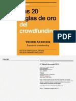 Las 20 reglas de oro del crowdfunding (Valentí Acconcia)