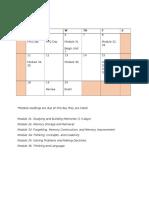unit vii calendar