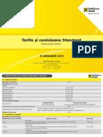 15.01.2015 Taxe Si Comisioane Persoane Fizice Valabile Pana La 16.03.2015