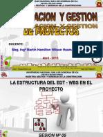Clase 05 El Edt y Wbs Chart Pro