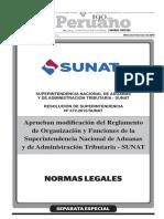 SUPERINTENDENCIA NACIONAL DE ADUANAS Y DE ADMINISTRACIÓN TRIBUTARIA - SUNAT RESOLUCIÓN DE SUPERINTENDENCIA Nº 372-2015/SUNAT