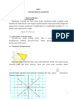 Transformasi Geometri untuk SMA kelas XII IPA