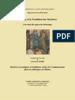 Socrate et la Tradition des Mystères, conférence de Jean-Luc Périllié