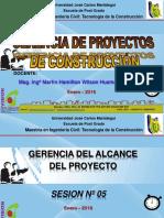 Clase 05 Gerencia Del Alcance Del Proyecto Final