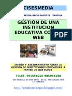Gestion de Una Institucion Educativa Con La Web