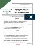 USP-SP 2013 MedInt Prova
