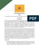 NATA Conservation & Tourism Development Workshop Report