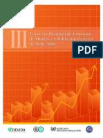 III Encuesta Nacional de Consumo de Drogas en Población General de Perú 2006