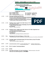 FACA Schedule