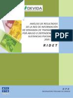 Análisis de Resultados de la Red de Información de Demanda de Tratamiento por Abuso o Dependencia de Sustancias Psicoactivas 2005 – 2007