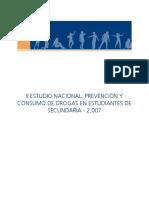 II Estudio Nacional Prevención y Consumo de Drogas en Estudiantes de Secundaria. Resultados Nacionales 2007