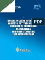 I Encuesta sobre Consumo de Sustancias Psicoactivas en Universitarios de Lima Metropolitana