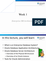 Week1 Introduction Enterprise Database Systems