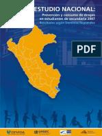 II Estudio Nacional Prevención y Consumo de Drogas en Estudiantes de Secundaria Resultados Regionales 2007