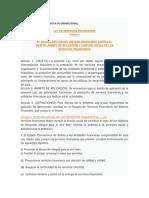 Ley 393 Servicios Financieros Resumen