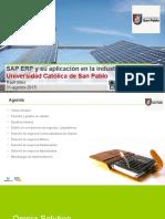 SAP ERP y Su Aplicación en La Industria