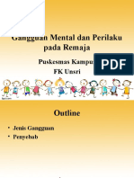 Gangguan Mental Dan Perilaku Pada Remaja
