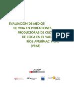 Evaluación de vida en poblaciones productoras de cultivos de coca en los valles de los Ríos Apurímac y ENE -VRAE