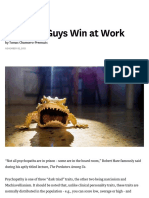 Why Bad Guys Win at Work