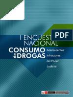I Encuesta Nacional de Consumo de Drogas en Adolescentes Infractores del Poder Judicial 2013