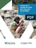Estudio de la calidad del agua en el Valle del Río Apurimac