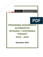 "Programa Desarrollo Alternativo Integral Y Sostenible ""PIRDAIS"" 2014 – 2016"