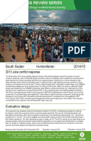 Humanitarian Quality Assurance – South Sudan: Evaluation of the 2013 Juba conflict response