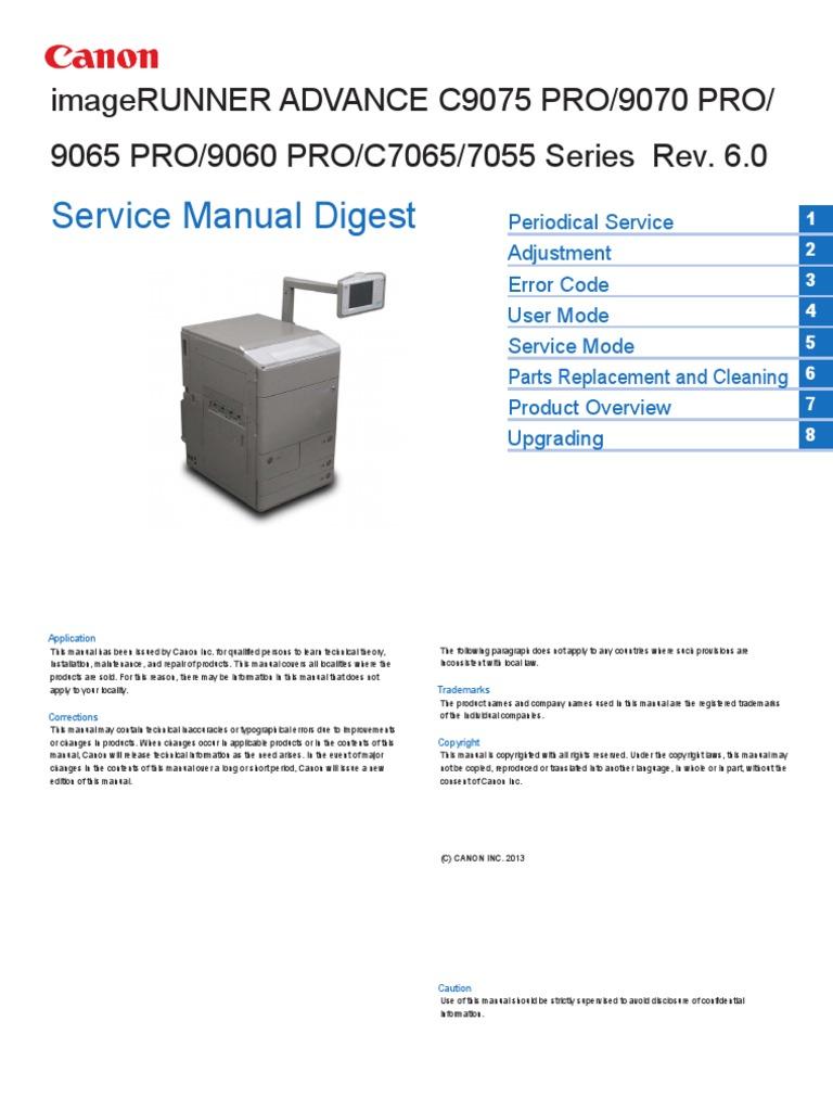 canon iradv 7055 c7065 9060pro 9065pro 9070pro c9075pro sm pdf rh es scribd com Dell Service Manuals Canon Camera Manuals PowerShot