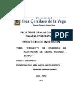 Proyecto de Inversion Cedro Rosado