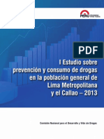 I Estudio sobre prevención y consumo de drogas en la población general de Lima Metropolitana y el Callao – 2013