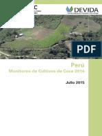Perú. Monitoreo de Cultivos de Coca 2014
