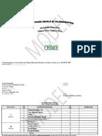 Planificare Chimie Gimnaziu 2014