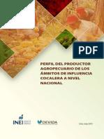 Perfil del Productor Agropecuario de los ámbitos de influencia cocalera