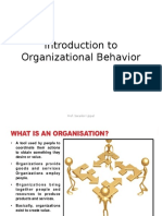 Introduction to Organizational Behaviour